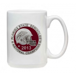 2013 BCS National Champions Florida State Seminoles White Coffee Cup - Enameled