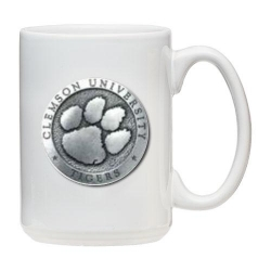 Clemson University White Coffee Cup