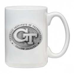 "Georgia Institute of Technology ""GT"" White Coffee Cup"