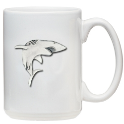 Shark White Coffee Cup