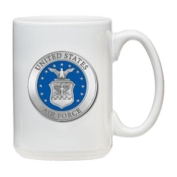 Air Force White Coffee Cup - Enameled