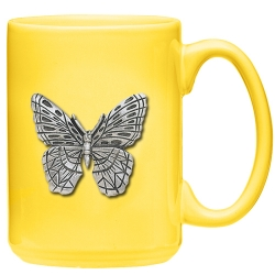 Butterfly Yellow Coffee Cup