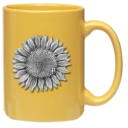 Sunflower Yellow Coffee Cup