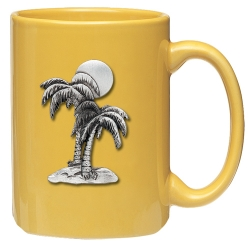 Palm Tree Yellow Coffee Cup