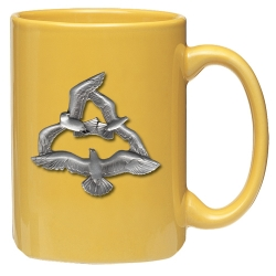 Sea Gulls Yellow Coffee Cup
