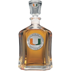 University of Miami Capitol Decanter - Enameled