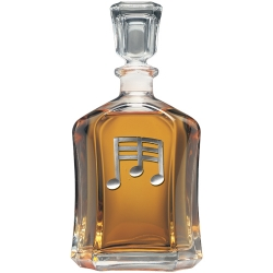 Musical Notes Capitol Decanter