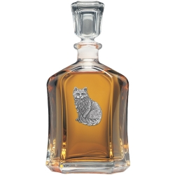 Cat Sitting Capitol Decanter