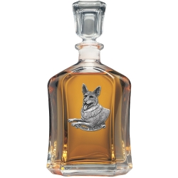 German Shepherd Capitol Decanter