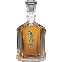 Golfer Capitol Decanter