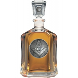 Masonic Square & Compass Capitol Decanter