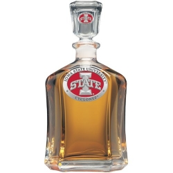 "Iowa State University ""I"" Capitol Decanter - Enameled"
