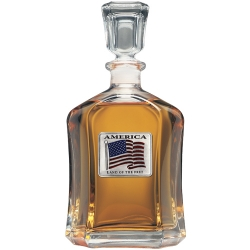 US Flag Capitol Decanter - Enameled