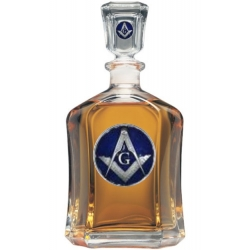Masonic Square & Compass Capitol Decanter - Enameled