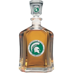Michigan State University Capitol Decanter - Enameled