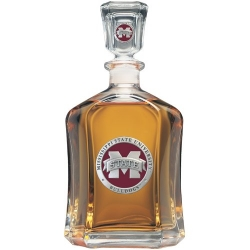 "Mississippi State University ""M"" Capitol Decanter - Enameled"