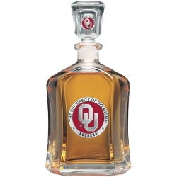 "University of Oklahoma ""OU"" Capitol Decanter - Enameled"