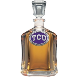 Texas Christian University Capitol Decanter - Enameled