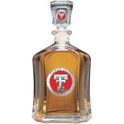 Texas Tech University Capitol Decanter - Enameled