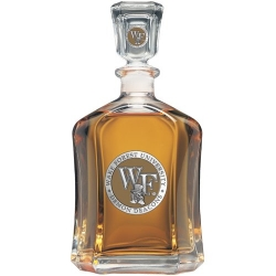 "Wake Forest University ""WF"" Capitol Decanter - Enameled"
