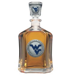 West Virginia University Capitol Decanter - Enameled