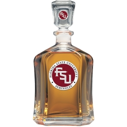 "Florida State University""FSU"" Capitol Decanter - Enameled"