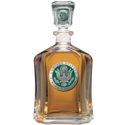 Army Capitol Decanter - Enameled