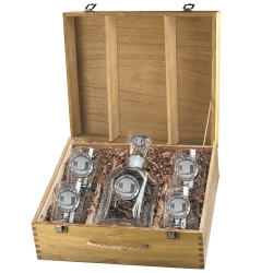 University of Miami Capitol Decanter Set w/ Box