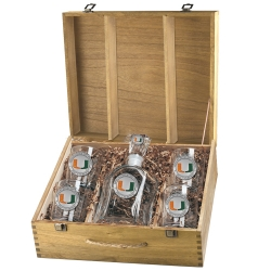 University of Miami Capitol Decanter Set w/ Box - Enameled