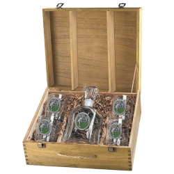 "Golf ""Putter"" Capitol Decanter Set w/ Box - Enameled"