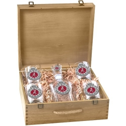 2012 BCS National Champions Alabama Crimson Tide Capitol Decanter Set w/ Box - Enameled