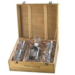Cat Sitting Capitol Decanter Set w/ Box