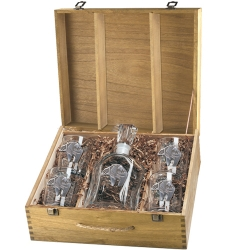 Bear Fetish Capitol Decanter Set w/ Box