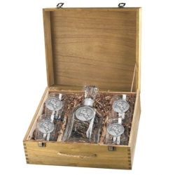 Bull Rider Capitol Decanter Set w/ Box