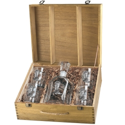 Cowboy Boot Capitol Decanter Set w/ Box