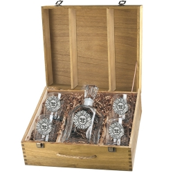 Sunface Capitol Decanter Set w/ Box