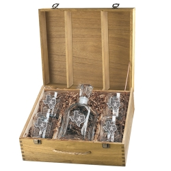 Texas Capitol Decanter Set w/ Box