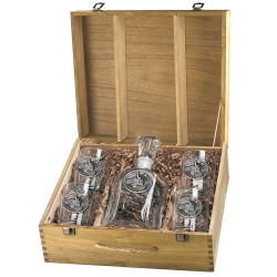 Train Capitol Decanter Set w/ Box