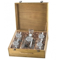 "Iowa State University ""I"" Capitol Decanter Set w/ Box"