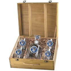 "University of Kentucky ""Wildcats"" Capitol Decanter Set w/ Box - Enameled"