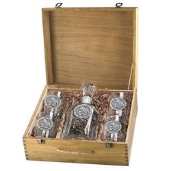 "Mississippi State University ""Bulldogs"" Capitol Decanter Set w/ Box"