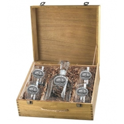 University of Nevada Capitol Decanter Set w/ Box