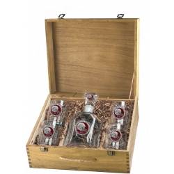 2013 BCS National Champions Florida State Seminoles Capitol Decanter Set w/ Box - Enameled