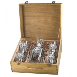 Kansas State University Capitol Decanter Set w/ Box