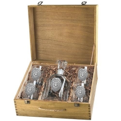 Law Enforcement Capitol Decanter Set w/ Box