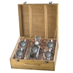 Masonic Square & Compass Capitol Decanter Set w/ Box