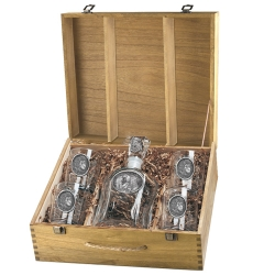 Lion Capitol Decanter Set w/ Box