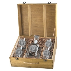 Law - Scales of Justice Capitol Decanter Set w/ Box
