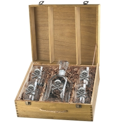 Skull & Bones Capitol Decanter Set w/ Box