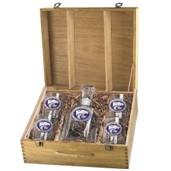 Kansas State University Capitol Decanter Set w/ Box - Enameled